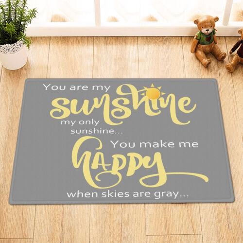 Inspirational Words Love Lettering Sunshine Shower Curtain Set Bathroom Decor