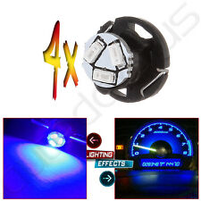 4PCS Blue T5/T4.7 Neo Wedge 3014 LED Dashboard HVAC Heater Climate Lights 12mm