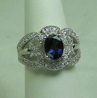 Shopnbc Gem Insider Oval Iolite & Zircon 925 Sterling Silver On Sale Ring Sz 7