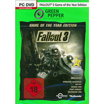 PC Computer Spiel ***** Fallout 3 Game of the Year Edition ***********NEU*NEW*18