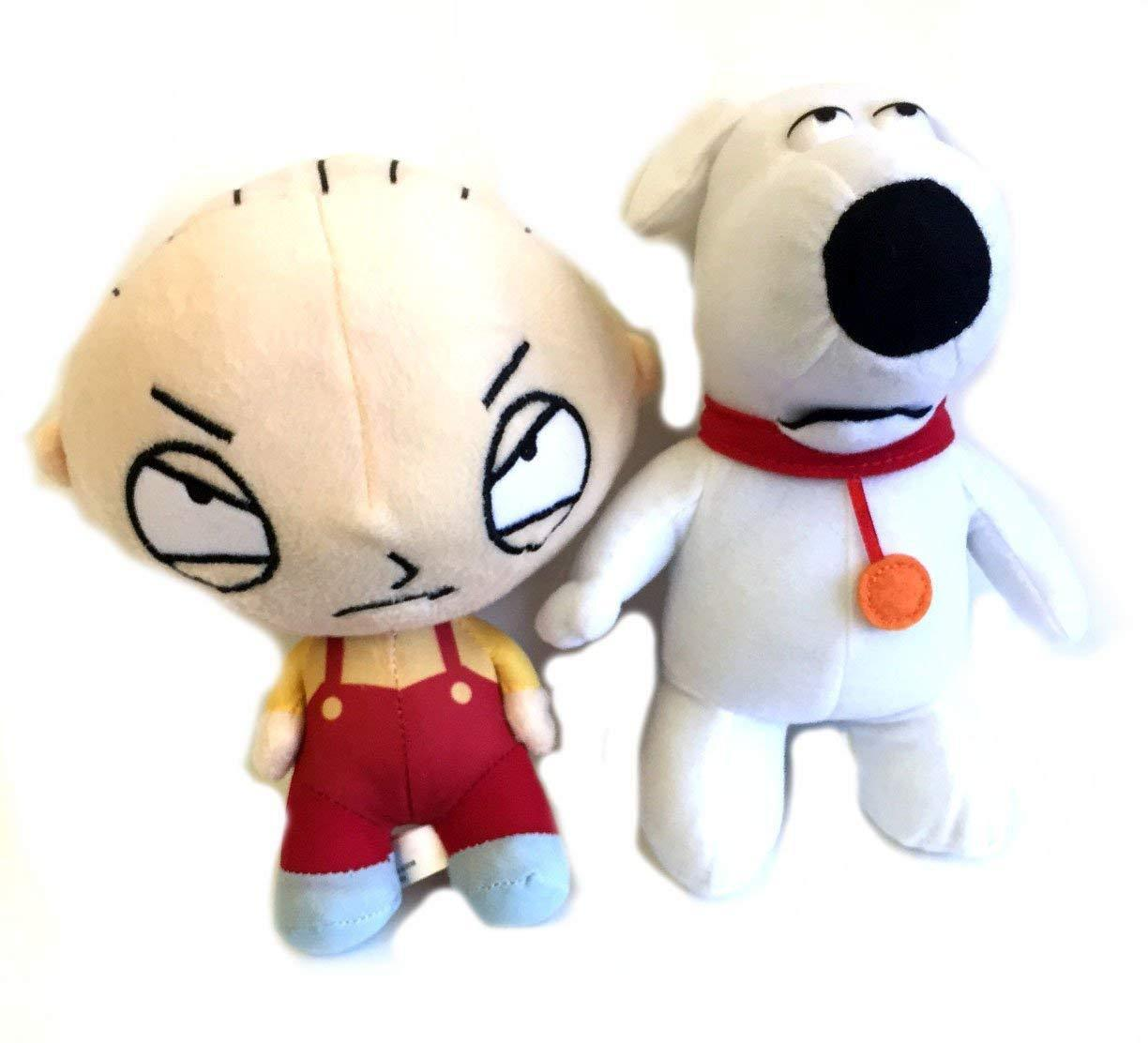 Family Guy 10 -11  Stewie and Brian Plush Combo-Family Guy Plush Combo-Nuovo