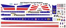 CARL CASPER's Young American Top Fuel Dragster 1/32nd Scale Slot Car Decals NHRA