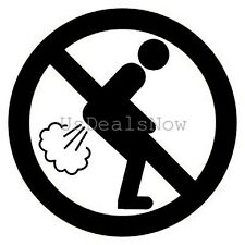 (2) No Farting Allowed Funny Vinyl Decal Car Window Stickers BLACK