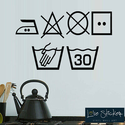 75*16cm Laundry Room Wall Art Sticker Laundry Utility Wall Kitchen Home Decor