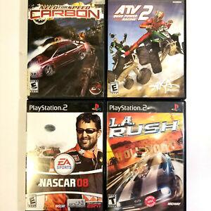 Playstation-PS2-Racing-Game-Lot-4-Games-ALL-CIB-Need-4-Speed-ATV-NASCAR-LA-Rush