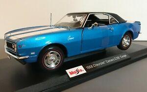 Maisto-1968-Chevrolet-Camaro-Z-28-Coupe-Azul-1-18-Edicion-Especial-2020-31685