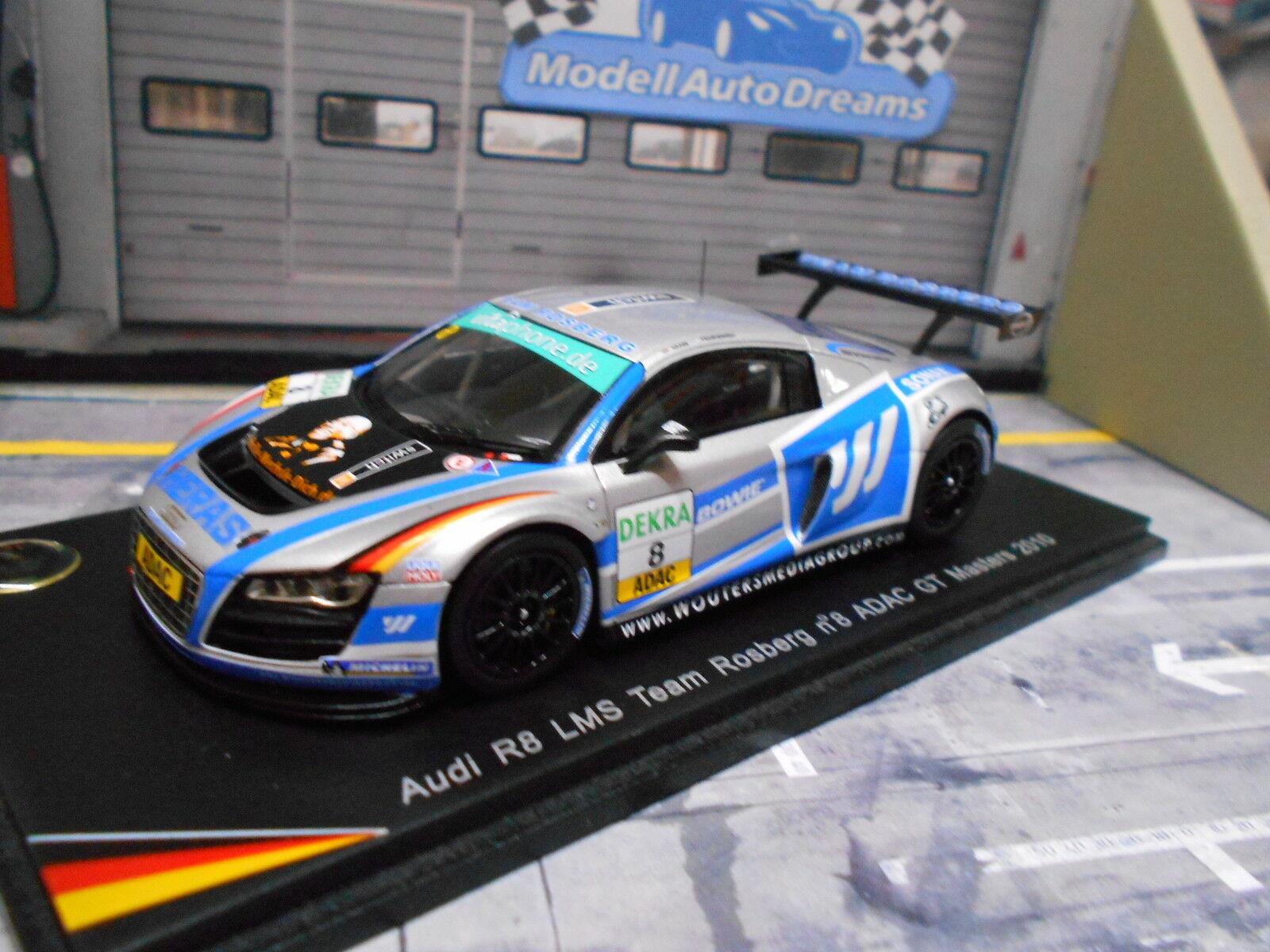 AUDI r8 LMS ADAC GT Masters 2010  8 team rosberg Haase frankenhout spark 1 43