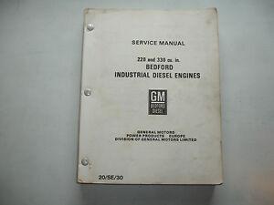 gm bedford detroit diesel 220 330 20 se 30 engines service shop o rh ebay com bedford 330 diesel engine manual Richland Hills Engine