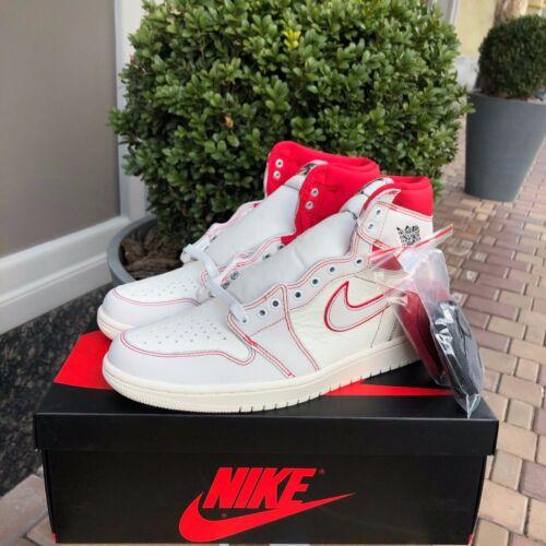 Nike Air Jordan 1 Retro High OG PHANTOM Sail Black University Red DS 555088-160
