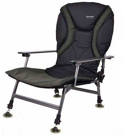Cantante anaconda vi lock lounge chair, resistente 160 kg karpfenstuhl con reposabrazos