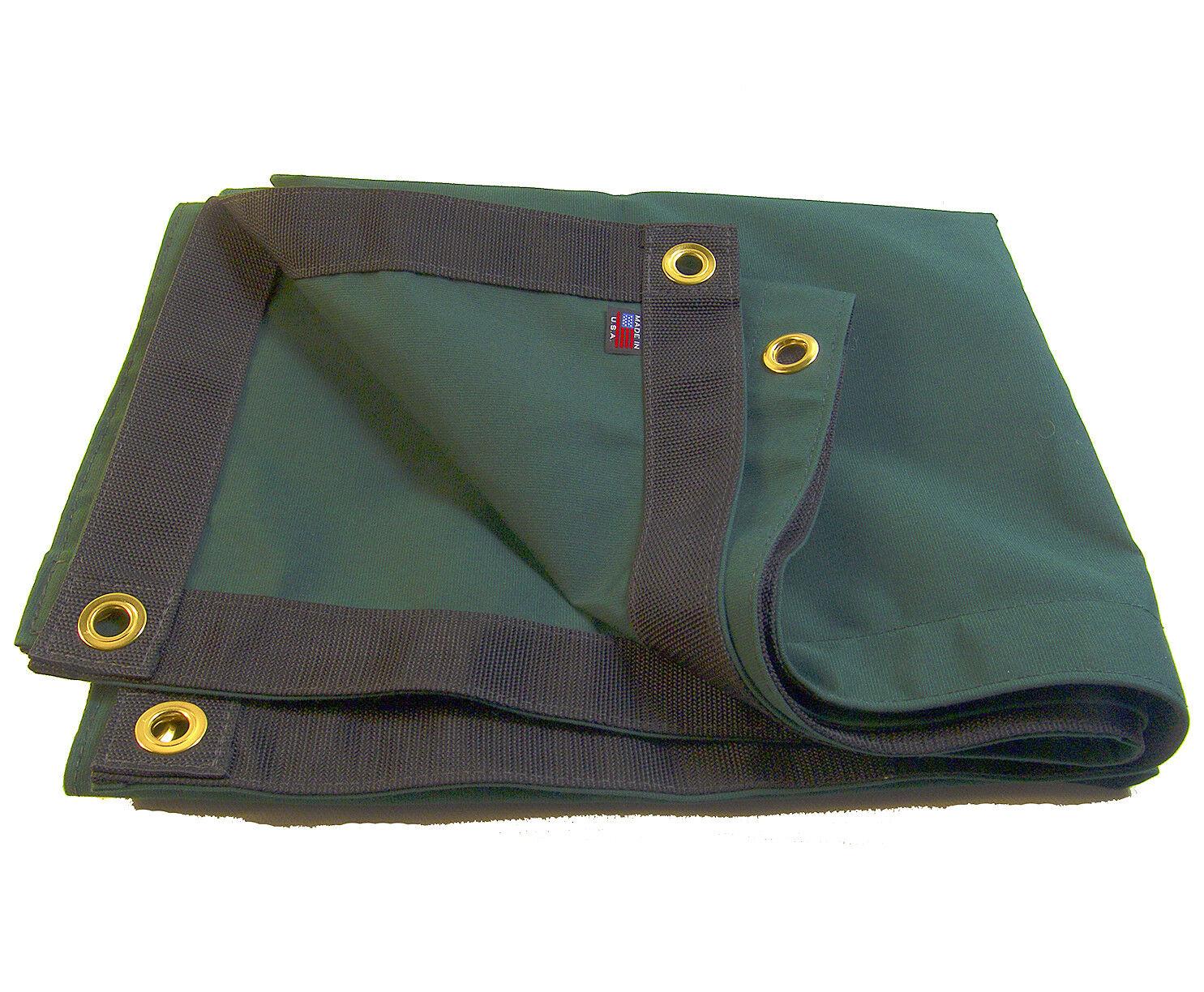Sunbrella Tarp, Forest verde  6037 w  4 Rolled Rim Spur Grommets, 916