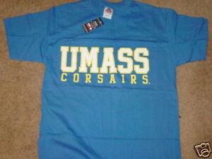 pretty nice f412c 8f251 Details about UM .. UMASS Dartmouth CORSAIRS T-Shirt NEW / TAG sz ......  LARGE