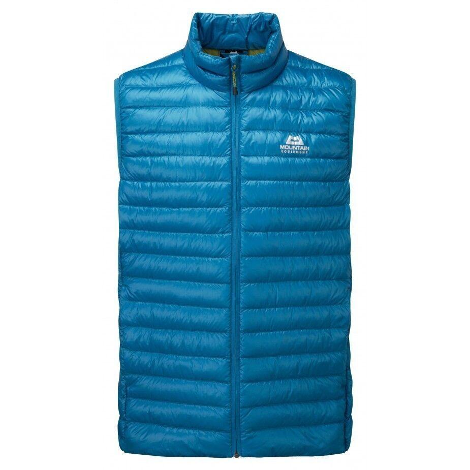 Mountain Equipment Arete Vest Men, leggera piumino gilet per uomo, Lagoon blu