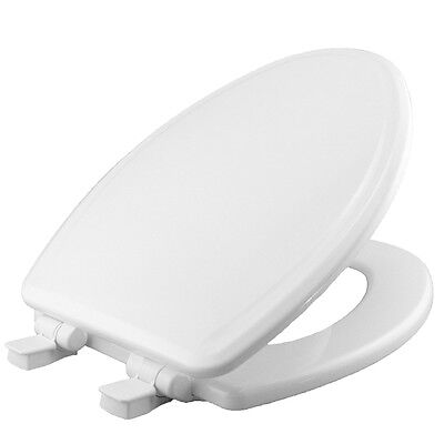 Church White Wood Elongated Slow Close Toilet Seat Easy