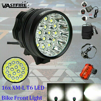 Waterproof 60000Lm 16x XML T6LED Bicycle Lamp Torch Bike Light Cycling Headlight