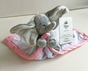 Disney-Store-Disney-Baby-Dumbo-Elephant-Security-Blanket-Lovey-White-w-Pink-NWT