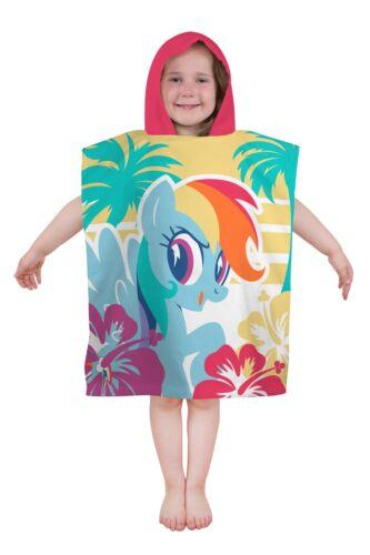 Mon petit poney Super Soft Poncho A Capuche Filles Enfants Sun Protect Vacances Serviette