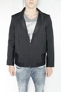 bonito-abrigo-chaqueta-bi-material-bcbg-M-F-GIRBAUD-talla-M-ETIQUETA