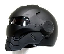 Masei 610 Matt Black Atomic-Man Motorcycle Bike Chopper NFL Arai Icon HELMET M4