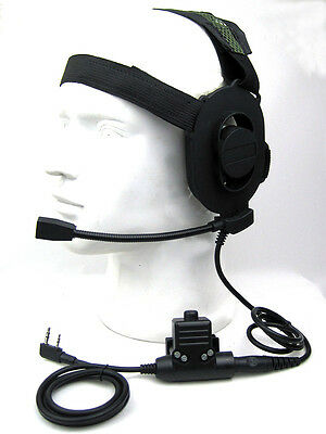 Heavy Duty Tactical Headset For Baofeng UV3R+ Plus UV82 L UV-B5 UV-B6 GT-3 A214