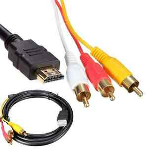 HDMI Male To 3 RCA RGB Male Video Audio AV Adapter Cable For HDTV ...
