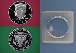 1999 S Proof John Kennedy Half Dollar With 2x2 Case DCam Clad Combined Shipping