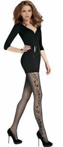 XL New Collection Patterned Tights 20 denier Black size S