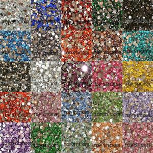 1000-10000X-High-Quality-Rhinestone-Resin-Crystal-Flat-Back-Gems-Nail-Art-Craft