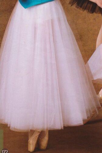 NEW Romantic Tulle Chiffon 3 Layer Ballet Ballroom Black Skirtw//Trunks Ad//Child