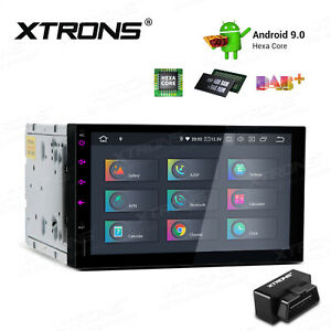 7-034-Android-9-0-6-Core-4-64GB-Car-Stereo-Radio-GPS-HDMI-Headunit-4K-Wifi-4G-OBD2