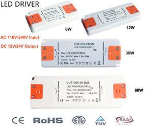 Trafo für LED 230V Transformator 12V DC 6W 12V 60W  LED Treiber Vorschaltgerät