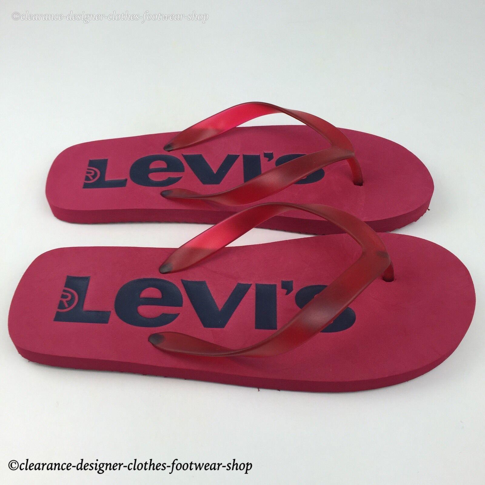 71b766315488e7 Levi s Levis Toe Post Men Women Strand Slippers Red 224489-749-87 EUR 46  for sale online
