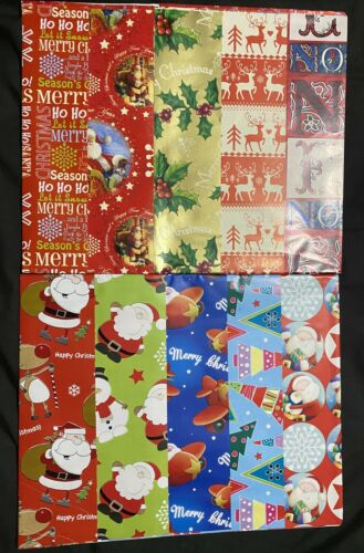 10 Christmas Gift Wrap Wrapping Paper Sheet 50cm X 50cm Xmas Special Adorable