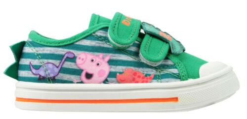 Boys George Peppa Pig Casual Canvas Pumps Trainers Shoes Kids UK Size 5-11