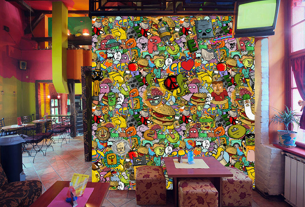 3D Mixed Graffiti 87  Wall Paper Murals Wall Print Wall Wallpaper Mural AU Kyra