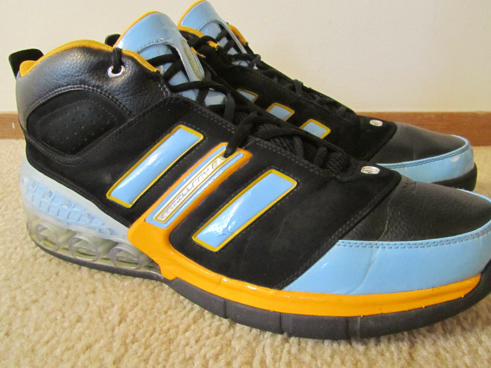Blue & Gold Adidas Bounce Artillery II Basketball Shoes, Price reduction Comfortable and good-looking