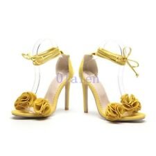 f26a0728ae10 Chic Women High Stiletto Heel Flower Ankle Strap Party New Lace up Sandals  Shoes
