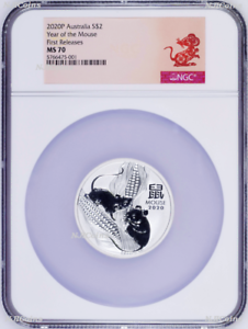 2020-P-Australia-Silver-Lunar-Year-of-the-Mouse-2oz-2-Coin-NGC-MS70-FR-Series-3