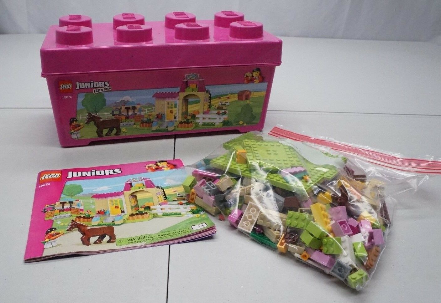 LEGO Juniors 10674 Pony Farm 312 pc Piece Partial Box Set