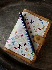 RARE Auth LOUIS  VUITTON Murakami White PM Notebook Portfolio Agenda Ring Binder