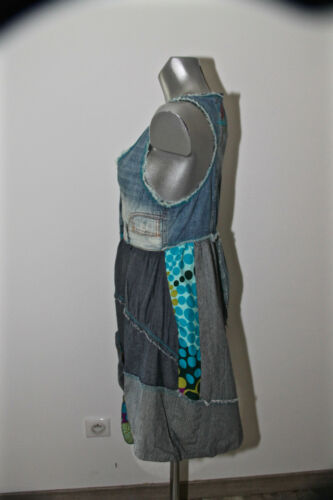 Été 40i Adorable Excellent Taille Desigual Robe 36 État Jeans Fr En Patchwork BarwFgq5a
