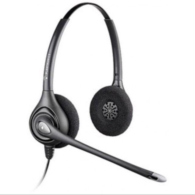 Plantronics Supraplus HW261N Over-The-Head Wideband Corded Headset + USB Adapt