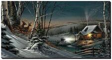 """Terry Redlin Evening with Friends Wrapped Lighted Canvas 40"""" x 21"""""""