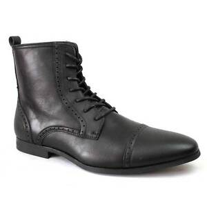 2e57a12d6e0 New Men s Black Dress Boots Cap Toe Lace Up Modern Leather Lining By ...
