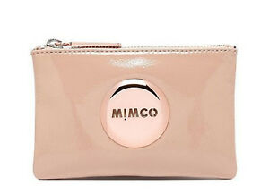 Mimco-Blush-pink-small-pouch-clutch-wallet-purse-patent-leather-Authentic-new