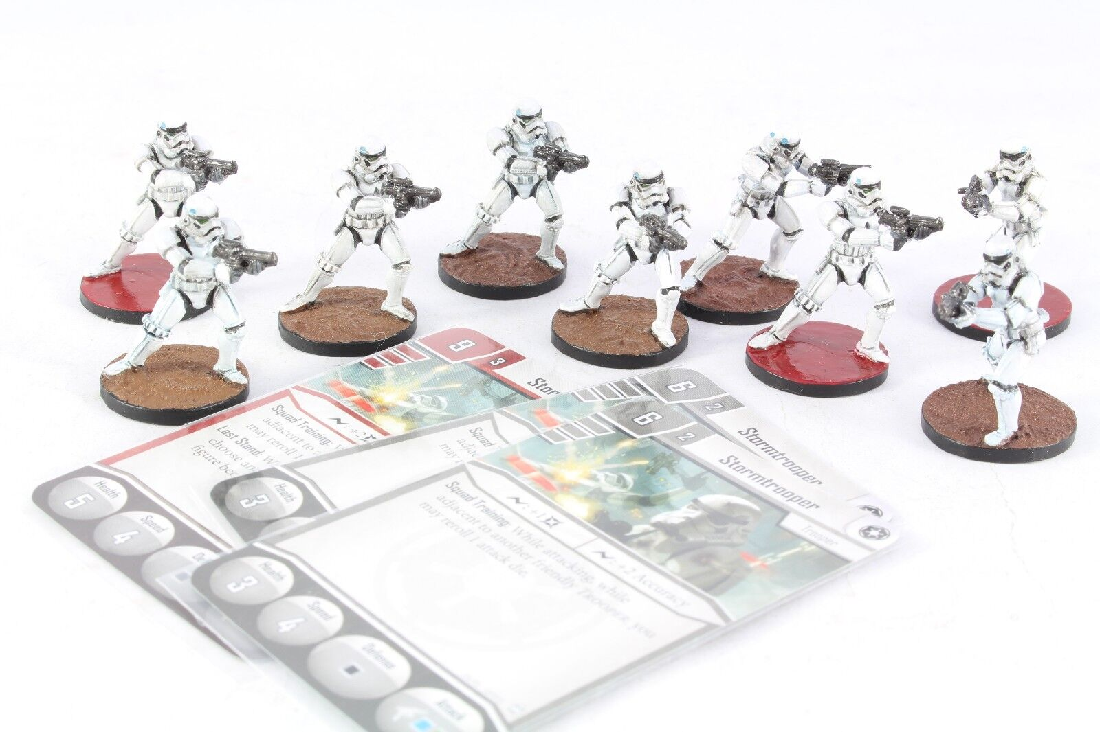 Star Wars Miniatures StormTrooper 8 Imperial Assault Group Core Set Pro Painted