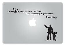 Walt Disney Quote V2 All our Dreams Apple Macbook Laptop Vinyl Decal Sticker