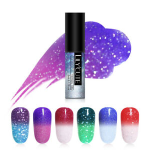 LILYCUTE-Holographic-Thermal-Gel-Polish-Glitter-Soak-Off-UV-Gel-Varnish-Nail-Art
