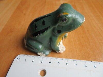 100% Wahr Alte Froschfigur 5cm Hoch Frosch Sitzend Leicht Beschädigt Und Ausgebessert Deko Exquisite Traditionelle Stickkunst