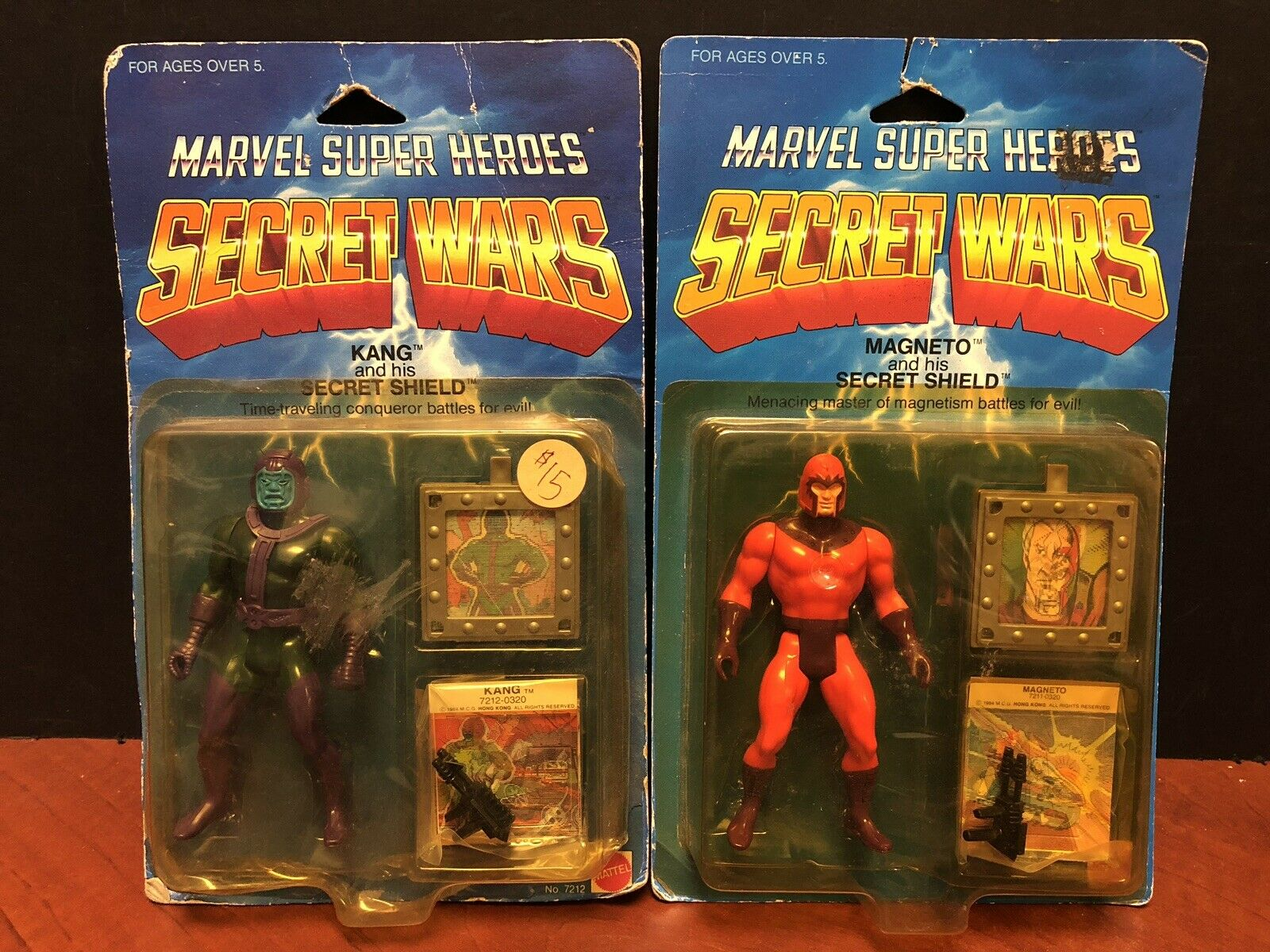 Vintage Marvel Super Heroes Secret Wars Kang & Magneto Lot Of 2 ATL2018